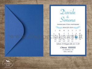partecipazione Dog Special Guest - calendario e busta blu