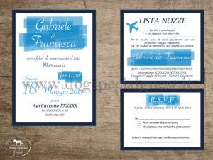 partecipazioni Dog Special Guest - effetto pennellate -sfondo blu